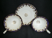 SOLD Regency tea & coffee trio Navy/Gilt - COalport?